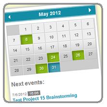 jQuery Event Calendar Demo Page