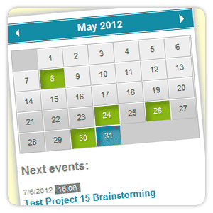 jQuery Event Calendar Plugin – english version - vissit com