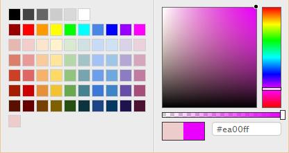 Spectrum - The No Hassle jQuery Colorpicker