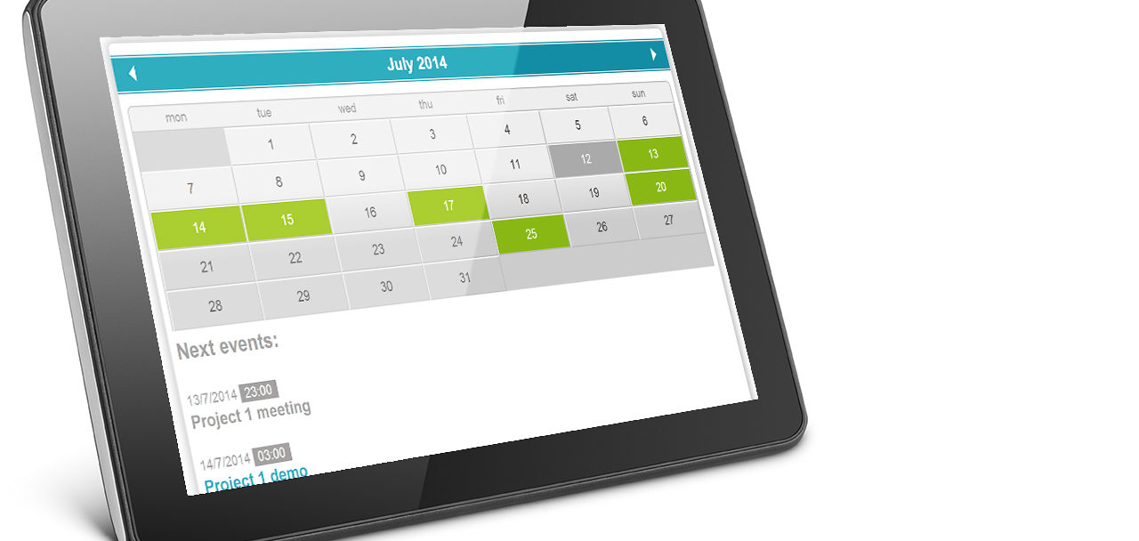 Event Calendar jQuery plugin